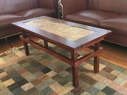 slate craftsman style coffee table