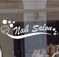 Nail Salon Vinyl Decal Sticker Business Sign Manicure Pedicure Window Wall Window Decals For Business Vinyl Decal Stickers Vinyl Decals