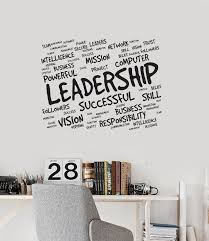 Vinyl Wall Decal Leadership Office Room Words Successful Business Stic Wallstickers4you