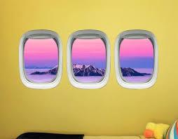50 Airplane Window View Decals Vwaq