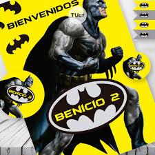 Kit Imprimible Batman Superheroes Cumpleanos Candy Bar