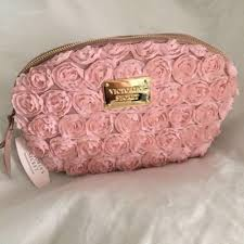 victoria secret pink rose makeup bag