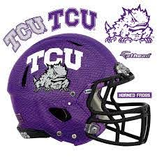 Tcu Horned Frogs Chrome Helmet Huge Officially Licensed Removable Wall Decal Wall Decal Shop Fathead For Tcu Horned Frogs Decor