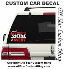 Custom Proud Cheer Mom Car Decal Custom Cheer Car Decal Cheer Mom Custom Decal Cheer Mom Vinyl Decal Car Window Custom Car Decals Car Decals Custom Decals