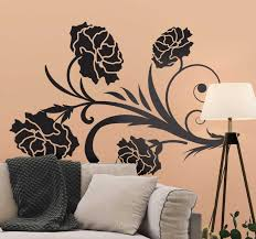 Carnation Silhouette Floral Wall Sticker Tenstickers
