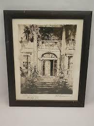 Ada Clendenin Williamson (1880 - 1958) Original Etching Colt Mansion  Bristol RI | #500461078