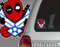Deadpool Car Decal Etsy