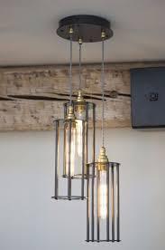 stocksmoor 3 light wrought iron pendant