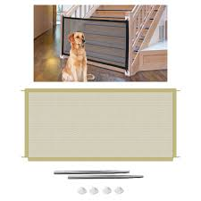 Magic Dog Gate Mesh Puppy Pet Barrier Fence Door For Indoor And Outdoor Safety Pet Dog Gate Dogs Baby Safety Fence Houses Kennels Pens Aliexpress