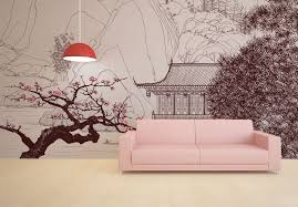 Wallpaper Sticker Japanese By Sticky Wallpaper Walls Decor Wall Murals Japanese Wall Art