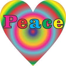4 5in X 4 5in Rainbow Peace Heart Bumper Sticker Decal Car Window Stickers Decals Walmart Com Walmart Com