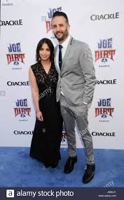 Adam Eget and Sara Weinshenk attends the Joe Dirt 2: Beautiful Loser Stock  Photo - Alamy