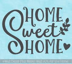 Farmhouse Wall Stickers Home Sweet Home Vinyl Lettering Decor Decals