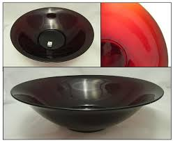 ruby red serving bowl unmarked anchor