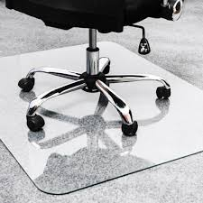 heavy duty glass chair mat for