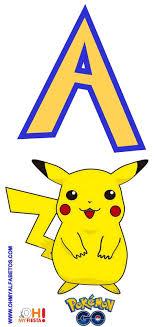 Alfabeto De Pikachu De Pokemon Go Gratis Cumpleanos De Pokemon