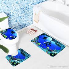 marine undersea world toilet seat mat