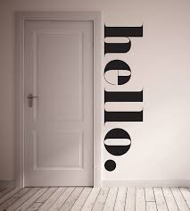 Wall Decal Hello Wall Sticker Room Decor Etsy Home Decor Interior Kitchen Wall Decals