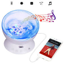 Ocean Wave Projector Night Light Lamp Music Player Plug In Led For Kids Room Night Lights Home Garden Worldenergy Ae