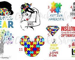Autism Tumbler Decal Etsy