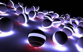 hd wallpaper 3d 3d neon ball hd