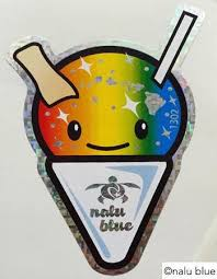 Shave Ice Decal Nalu Blue Hawaiian Decals
