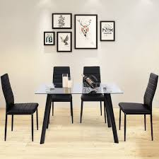 dining table set tempered glass