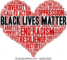 Black lives matter word cloud. Black lives matter word cloud on a ...