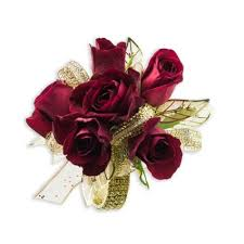 golden ruby wrist corsage quality