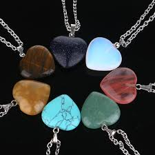 natural love heart necklaces pendants