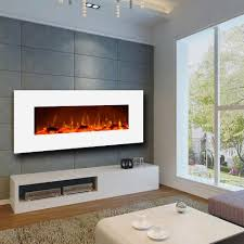 ivory white wall mounted fireplace
