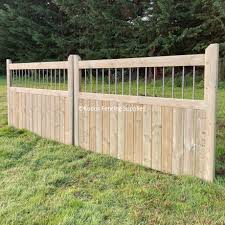 Pair Of Railing Top Driveway Gates Quality Buy Online Uk Delivery