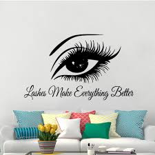 Modern Beautiful Lash Wall Art Sticker Modern Wall Decals For Beauty Salon Removable Mural Stickers Lash Decal Wallpaper Leather Bag