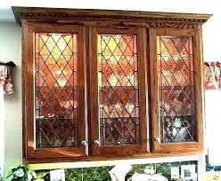 decorative glass inserts for kitchen