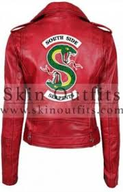 red southside serpent leather jacket
