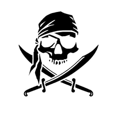 6inches Pirate Skull Funny Car Stickers Laptop Wall Motorcycle Vinyl Decals Pirates Car Stickers Funny Pirate Art
