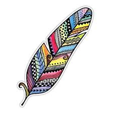 Feather Sticker Colorful Bird Feather Decal By Megan J Designs Laptop Car Vinyl Tumbler Sticker Buy Products Online With Ubuy Costa Rica In Affordable Prices B00uqsb3gg