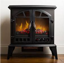 electric heater winter fireplace flame