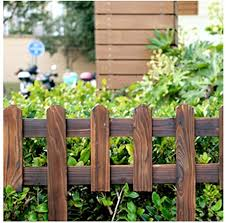 Zhanwei Garden Fence Carbonization Solid Wood Lawn Park Picket Fencing Decorative Border Edge Panels 5 Sizes Color 1pc Size 90x90cm Amazon Co Uk Garden Outdoors