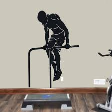 Muscle Workout Wall Decal Pull Up Exercise Sports Door Window Vinyl Sticker Training Room Stadium Gym Interior Decoration E270 Wall Stickers Aliexpress