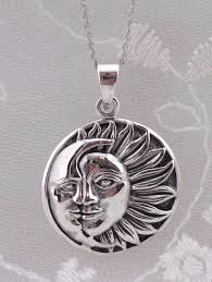 925 sterling silver sun and moon