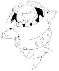 Kleurplaat Pokemon Mega Evolutie Mega Slowbro 80 80