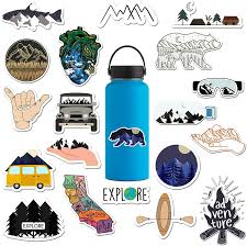 Amazon Com The Carefree Bee 20 Outdoors Stickers For Water Bottles Laptops Series 3
