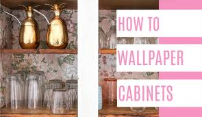 how to wallpaper cabinets at home