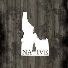 Pnw Decal Idaho Native Car Decal Idaho Native State Car Etsy Unique Decals Car Decals Vinyl Decals