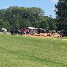 1 seriously injured following logging truck crash on Highway 73