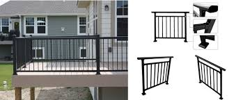 Outdoor Deck Aluminum Fence Tempered Glass Aluminum Fence Design