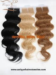 body wave tape hair extensions 100