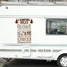 Camping Rules Vinyl Sticker Wall Decor Camping Quote Art Decals Sticker Mural Home Wall Decoration Camping Enthusiast Gift Happy Birthday Online