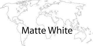 Amazon Com Picniva Matte White 10 X 22 World Map Wall Decal Vinyl Art Sticker Home Decor Home Kitchen
